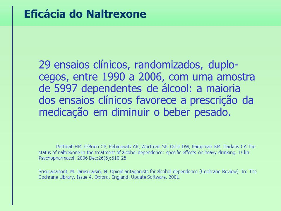 Eficácia do Naltrexone