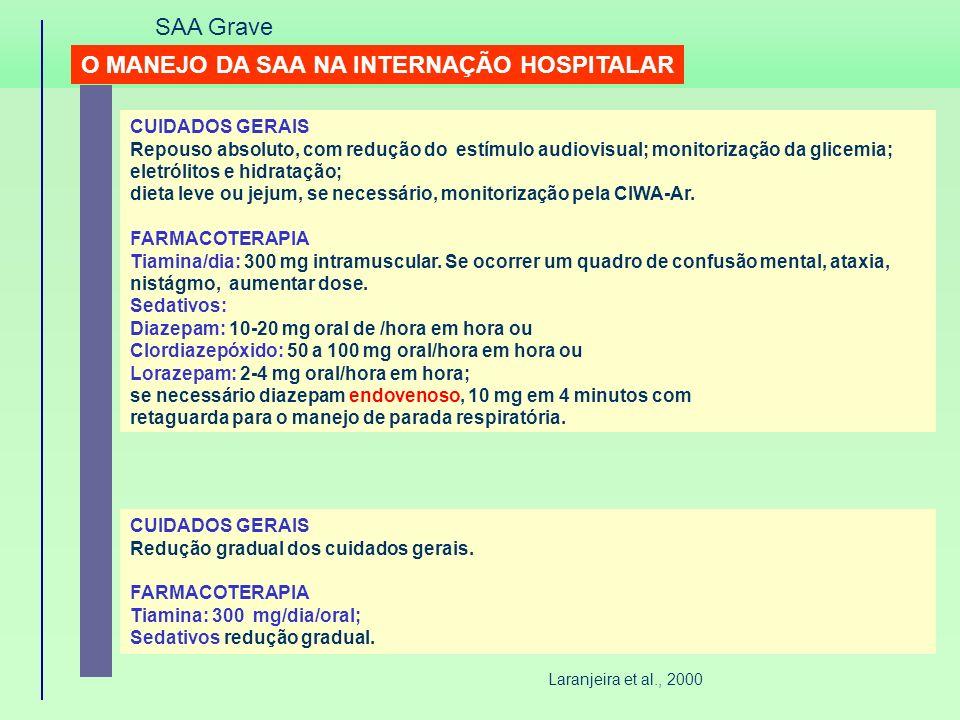 O MANEJO DA SAA NA INTERNAÇÃO HOSPITALAR