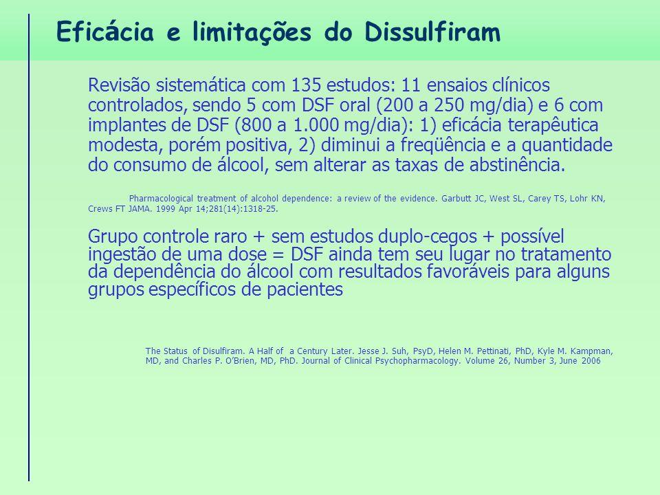 Eficácia e limitações do Dissulfiram