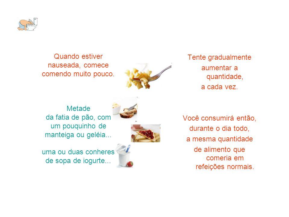 de alimento que comeria em refeições normais.