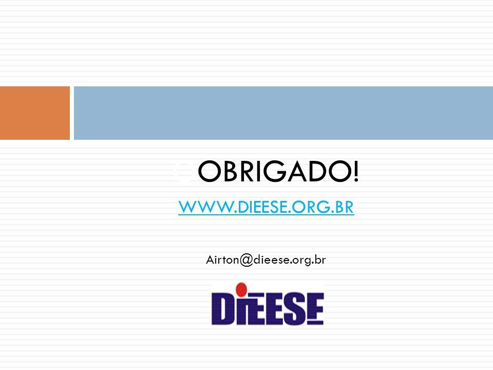 OOBRIGADO! WWW.DIEESE.ORG.BR Airton@dieese.org.br