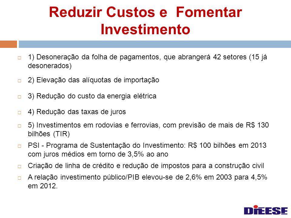 Reduzir Custos e Fomentar Investimento