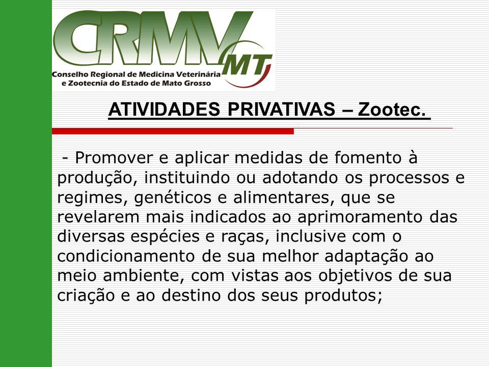 ATIVIDADES PRIVATIVAS – Zootec.