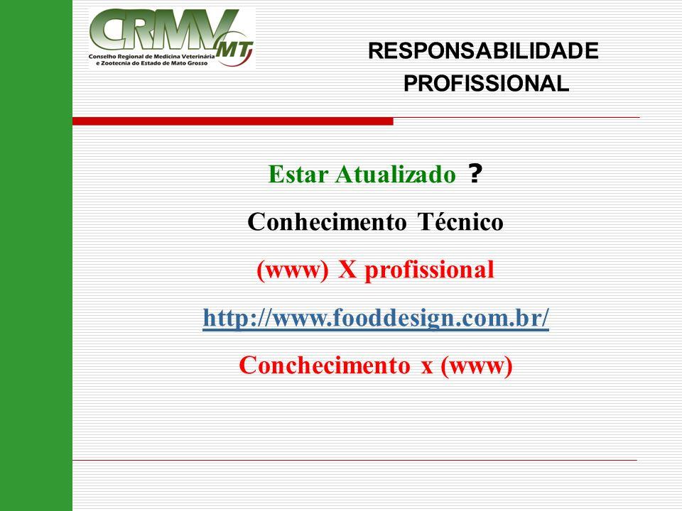 Estar Atualizado Conhecimento Técnico (www) X profissional