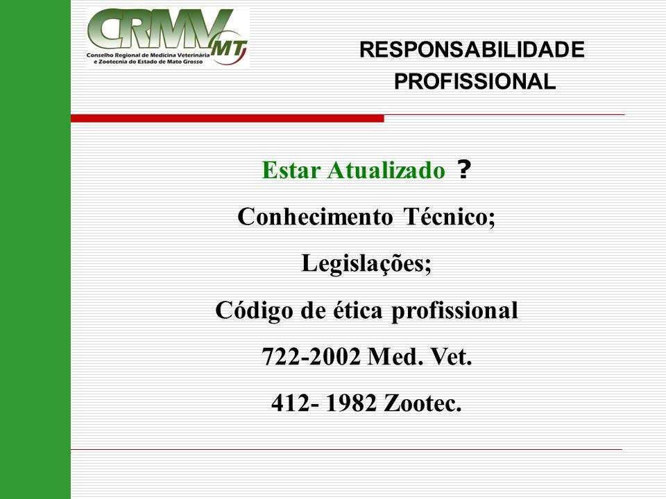Conhecimento Técnico; Código de ética profissional