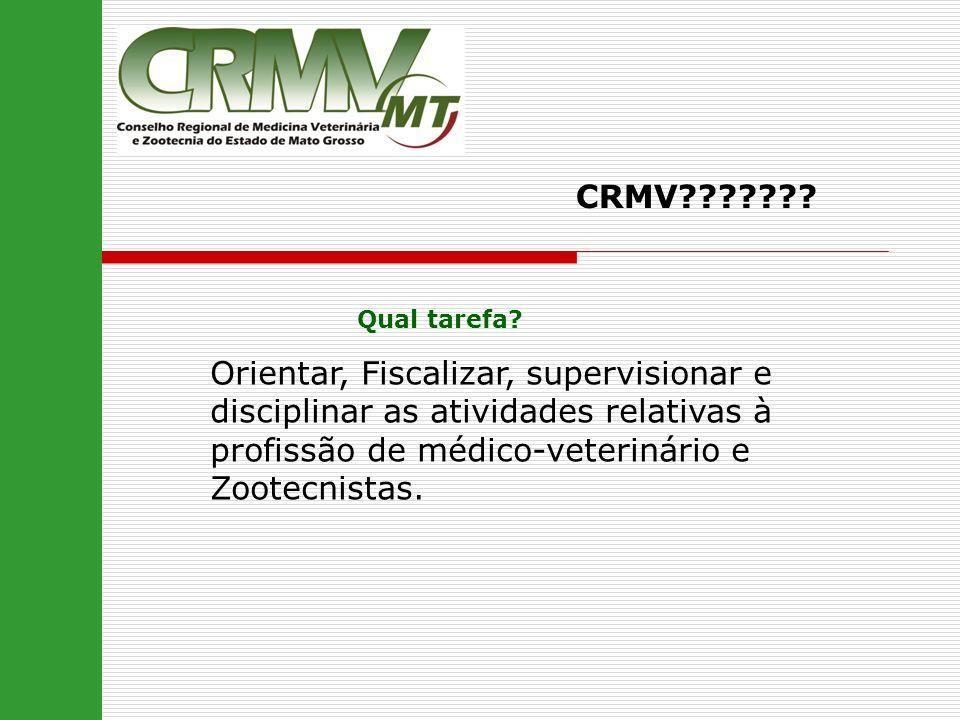 CRMV . Qual tarefa.