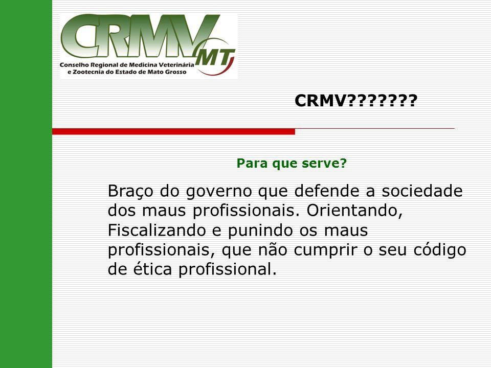 CRMV Para que serve