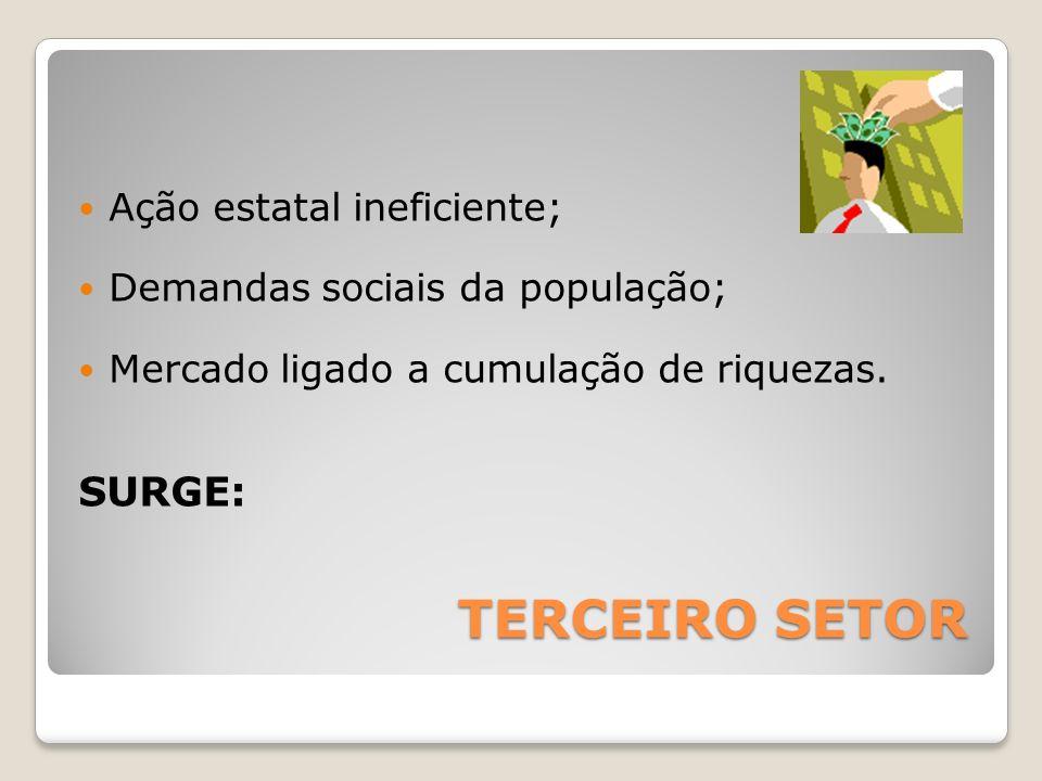 TERCEIRO SETOR SURGE: Ação estatal ineficiente;