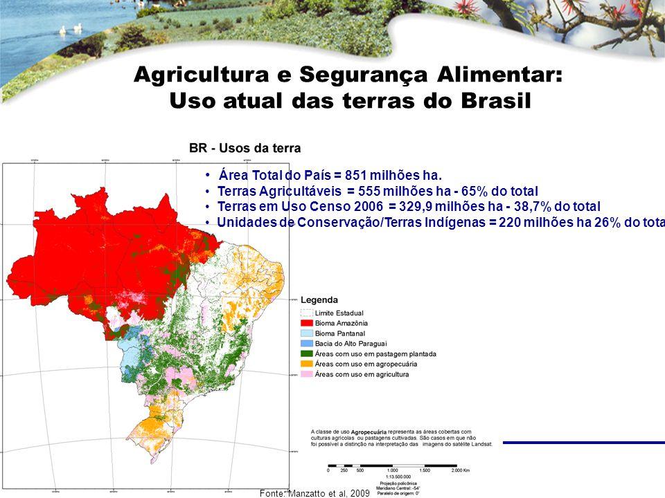 Agricultura e Segurança Alimentar: Uso atual das terras do Brasil