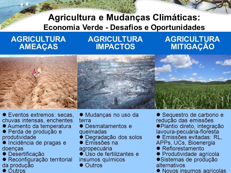 Agricultura e Mudanças Climáticas: Economia Verde - Desafios e Oportunidades