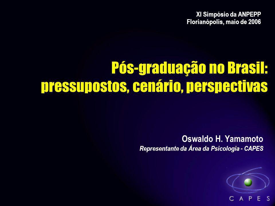 Pós-graduação no Brasil: pressupostos, cenário, perspectivas
