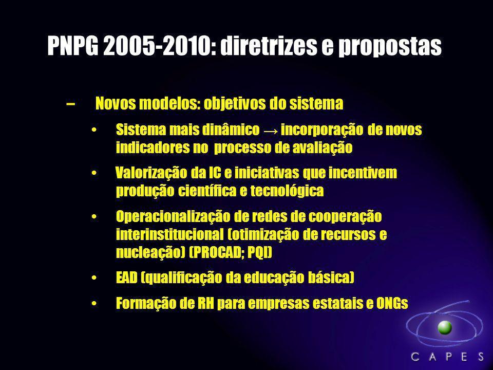 PNPG 2005-2010: diretrizes e propostas