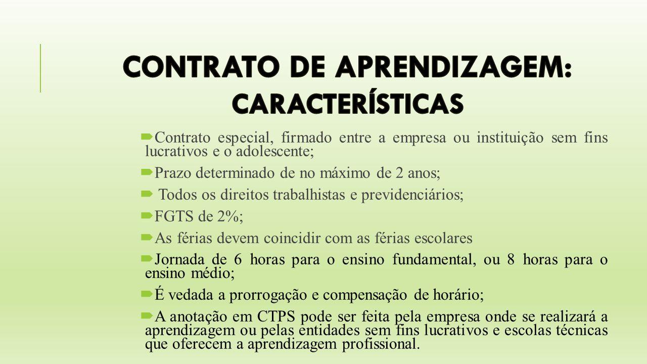 CONTRATO DE APRENDIZAGEM: