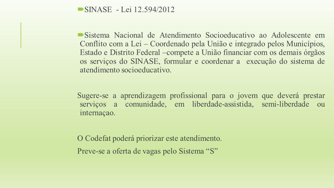 SINASE - Lei 12.594/2012