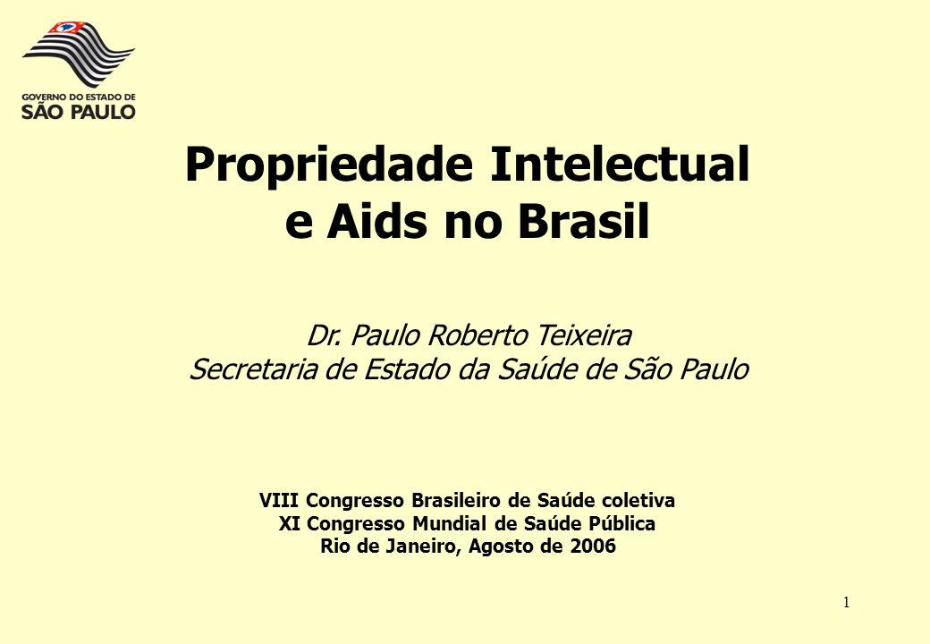 Propriedade Intelectual e Aids no Brasil