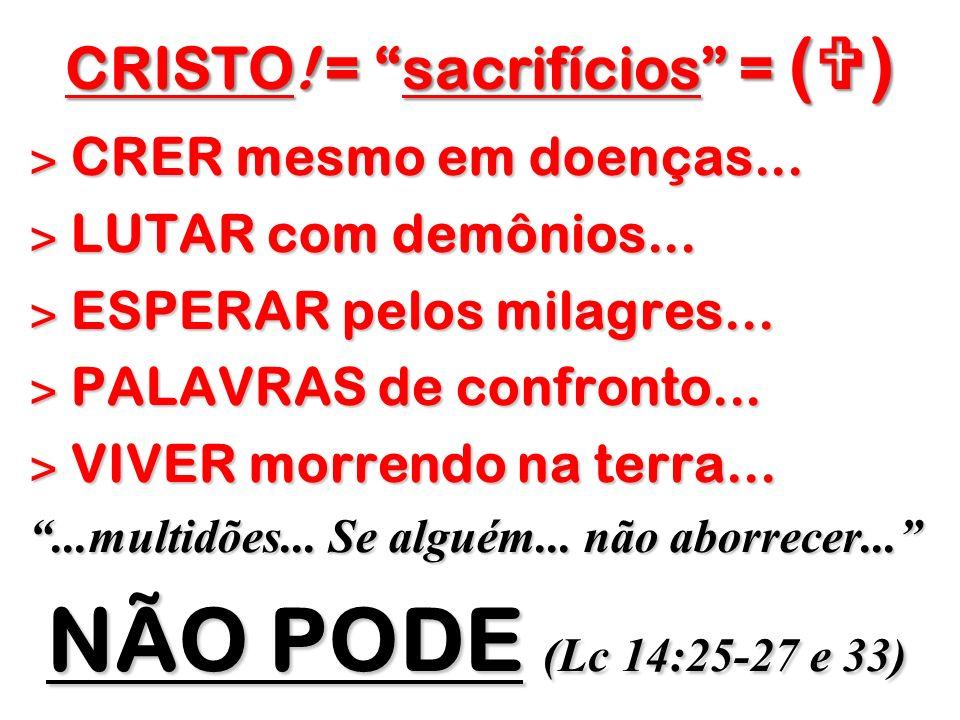 CRISTO! = sacrifícios = ()