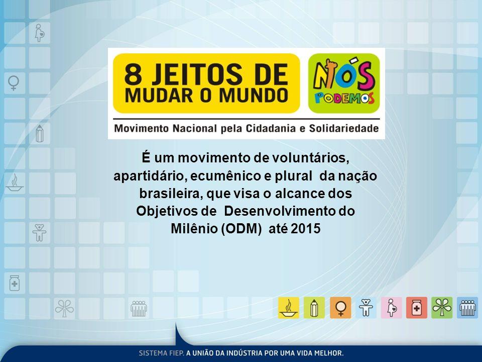 É um movimento de voluntários, apartidário, ecumênico e plural da nação brasileira, que visa o alcance dos Objetivos de Desenvolvimento do Milênio (ODM) até 2015