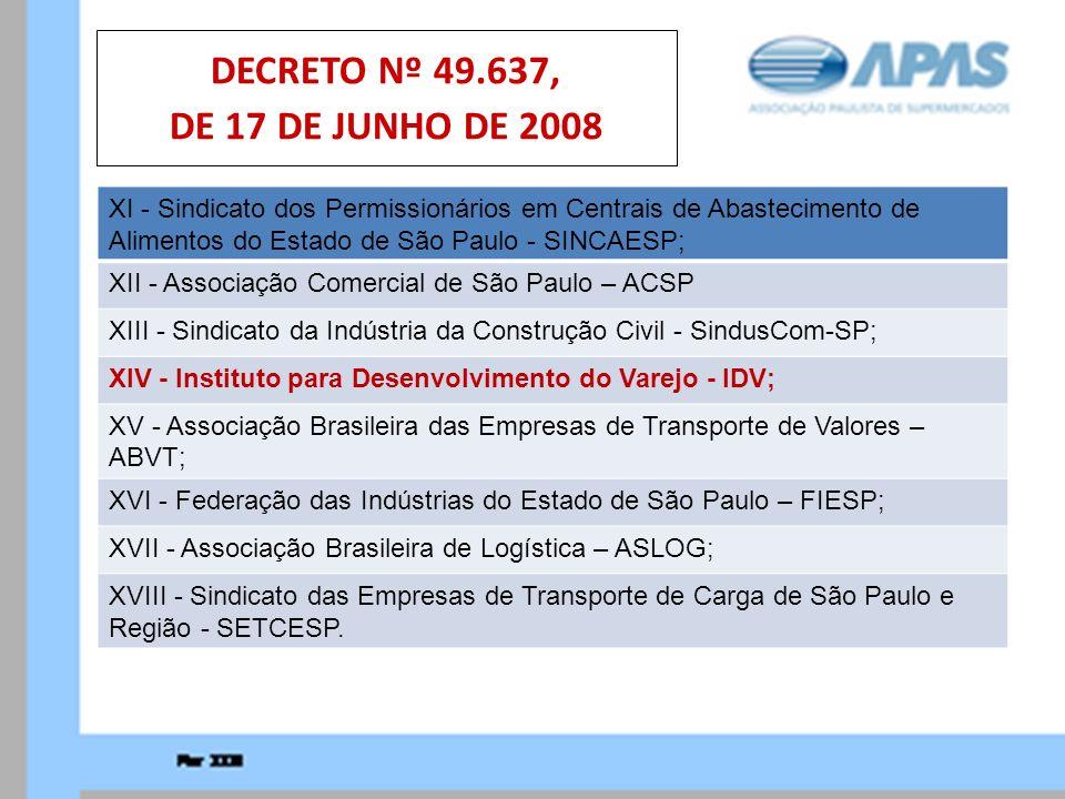 DECRETO Nº 49.637, DE 17 DE JUNHO DE 2008