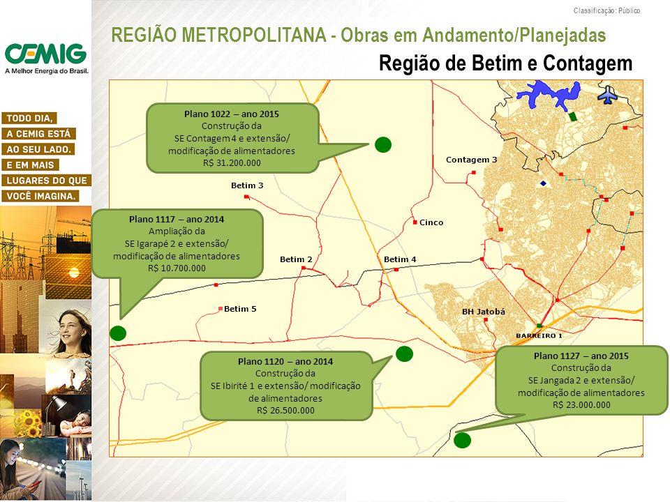 REGIÃO METROPOLITANA - Obras em Andamento/Planejadas
