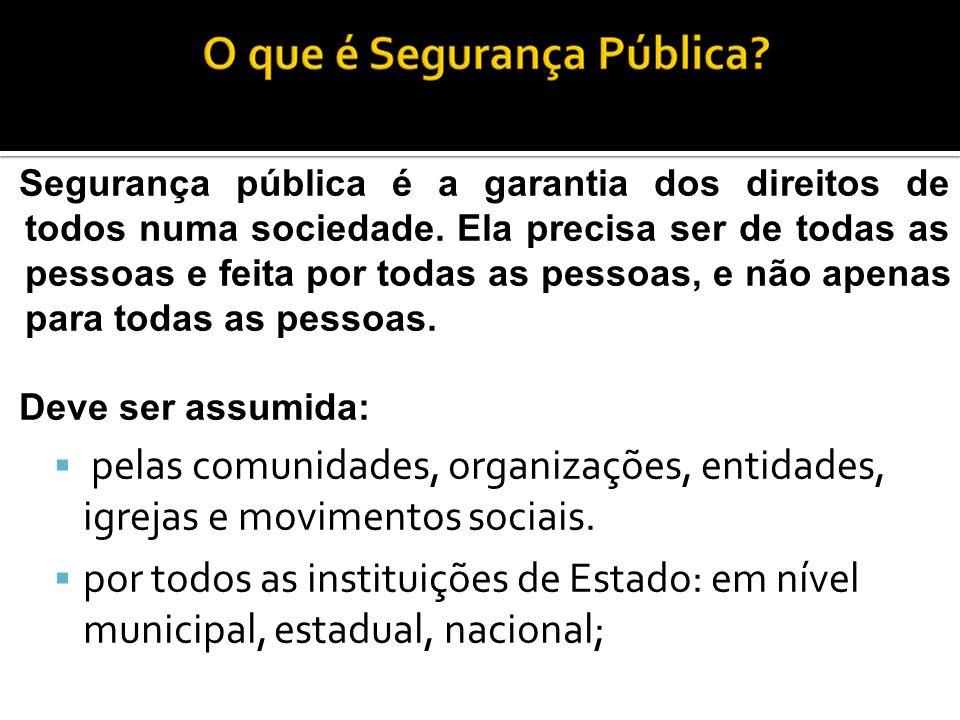 Segurança pública é a garantia dos direitos de todos numa sociedade