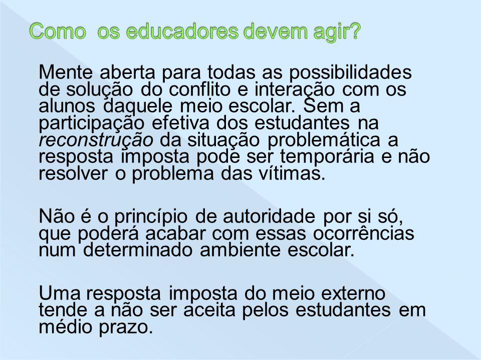Como os educadores devem agir