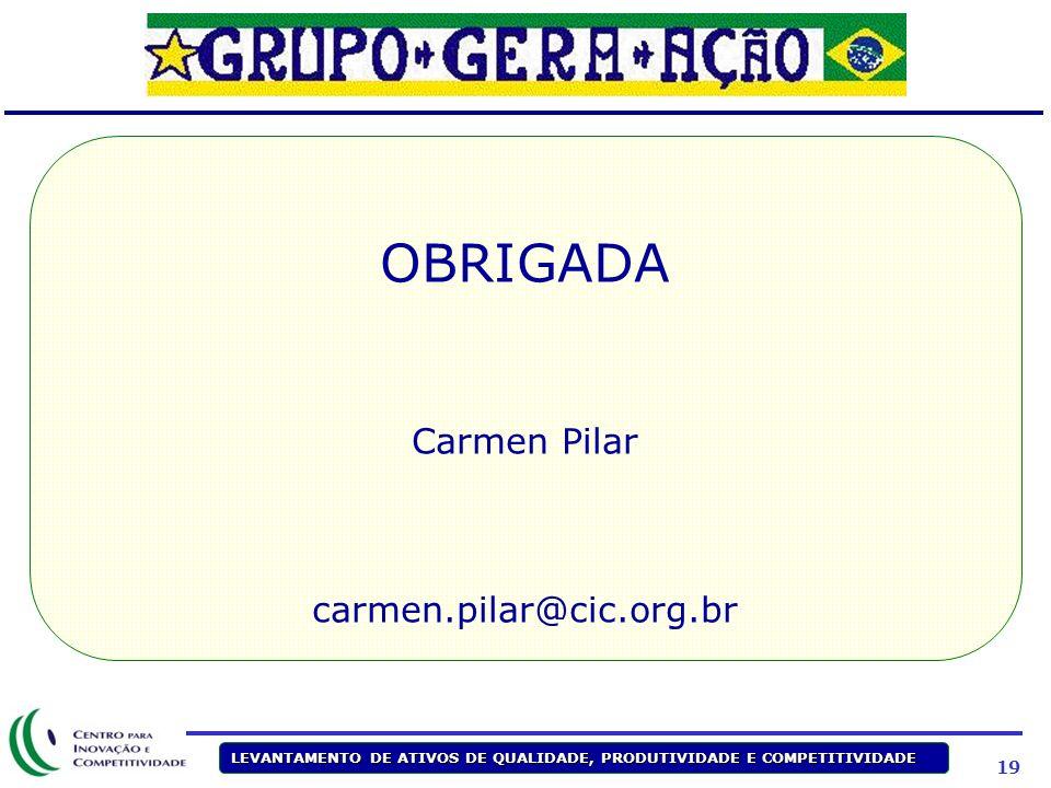 OBRIGADA Carmen Pilar carmen.pilar@cic.org.br