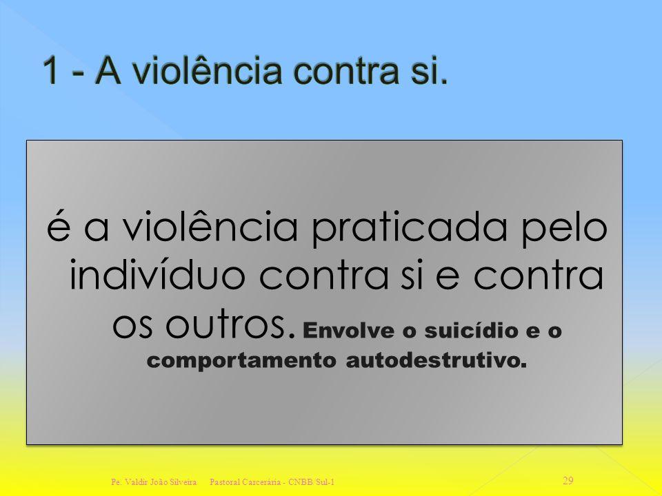 é a violência praticada pelo indivíduo contra si e contra os outros