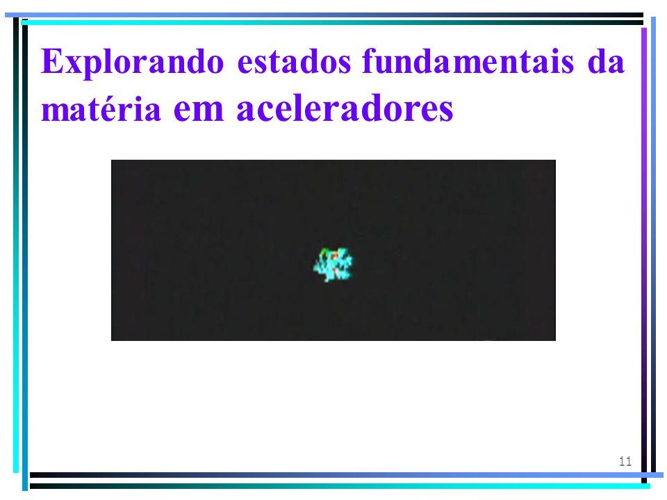 Explorando estados fundamentais da matéria em aceleradores