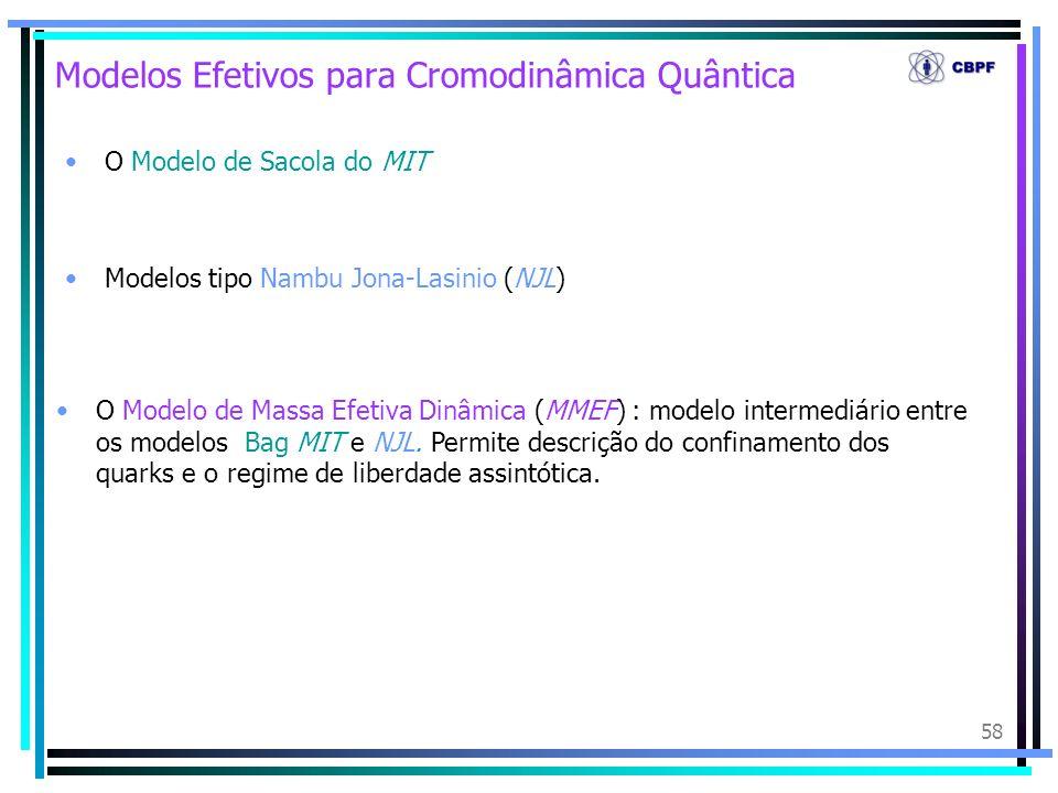 Modelos Efetivos para Cromodinâmica Quântica