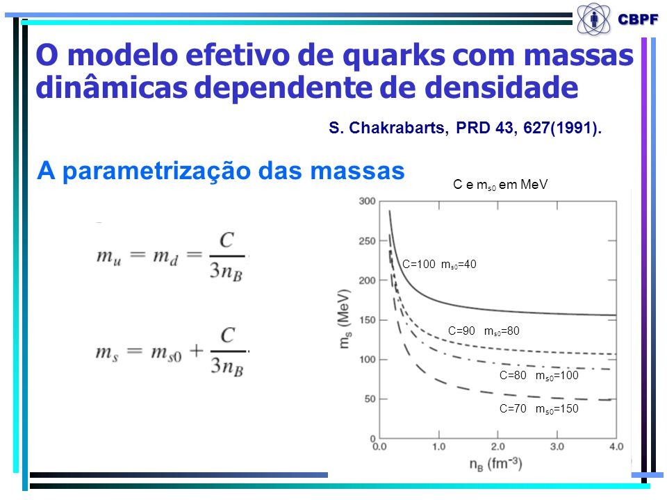 A parametrização das massas