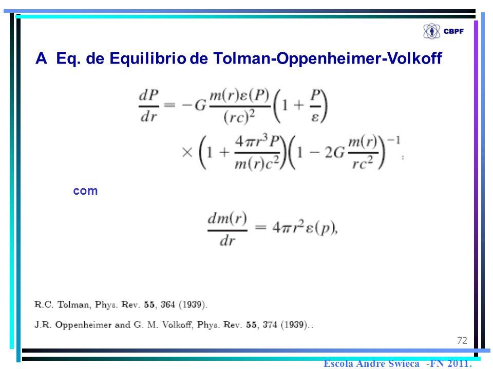 A Eq. de Equilibrio de Tolman-Oppenheimer-Volkoff
