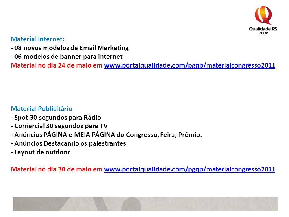 Material Internet:08 novos modelos de Email Marketing. 06 modelos de banner para internet.