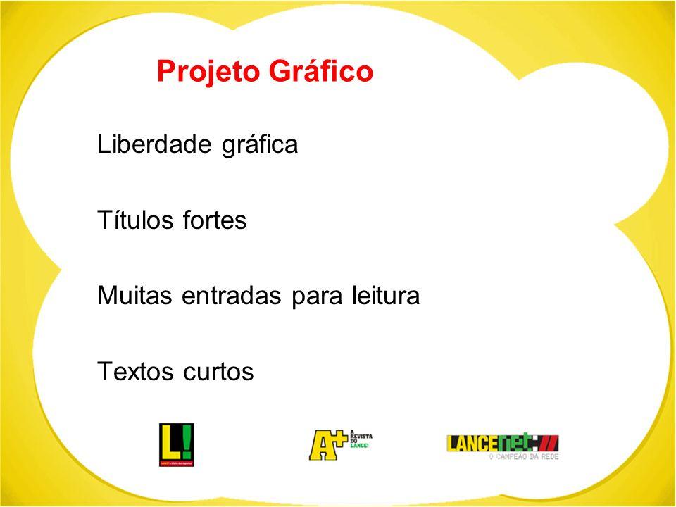 Projeto Gráfico Liberdade gráfica Títulos fortes
