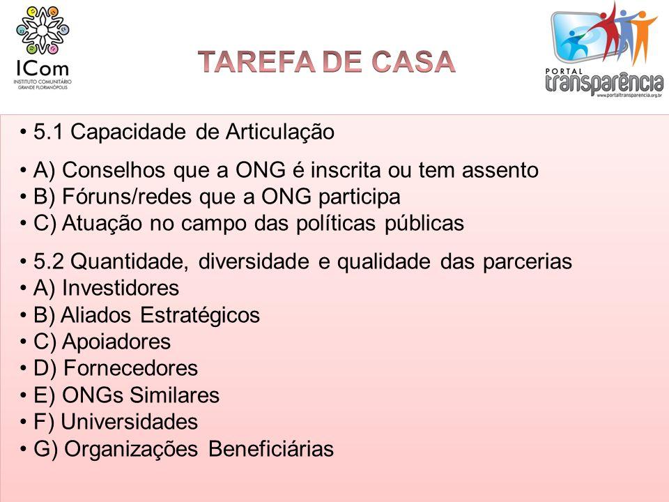 TAREFA DE CASA 5.1 Capacidade de Articulação