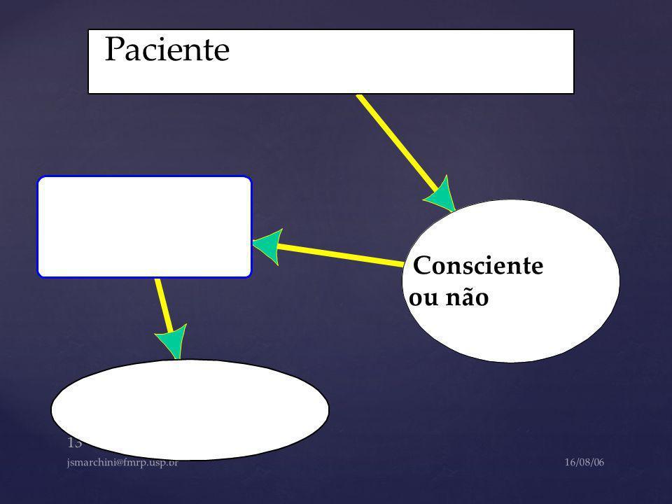 Paciente Consciente ou não jsmarchini@fmrp.usp.br 16/08/06