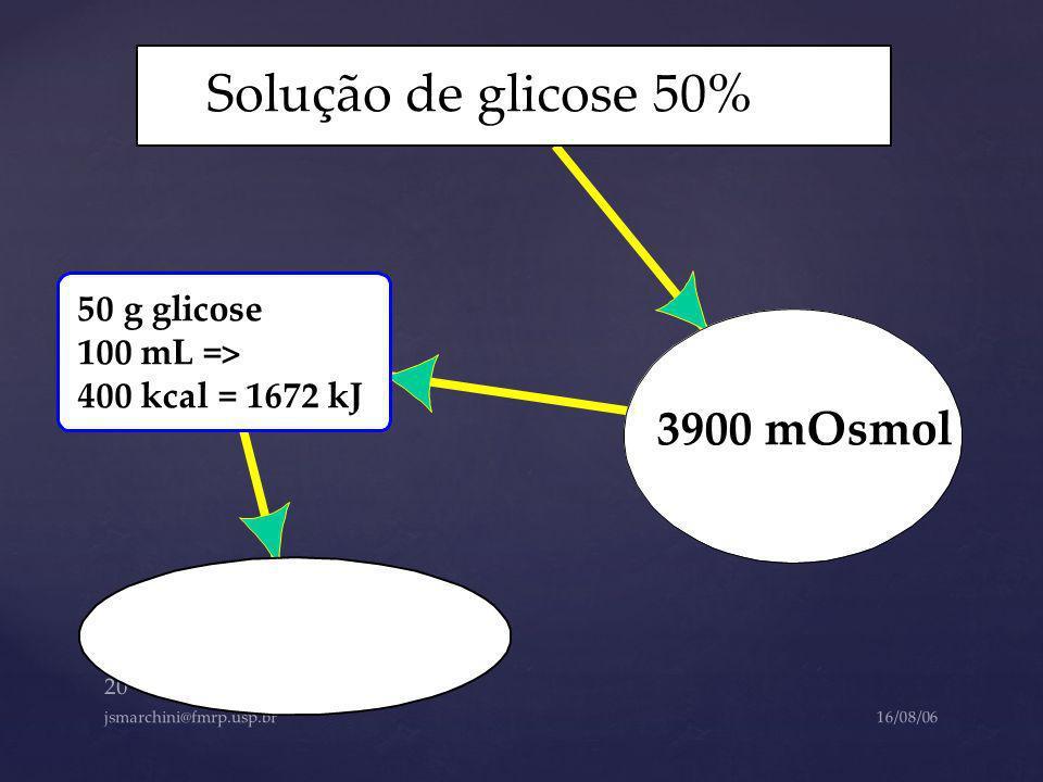 Solução de glicose 50% 3900 mOsmol 50 g glicose 100 mL =>