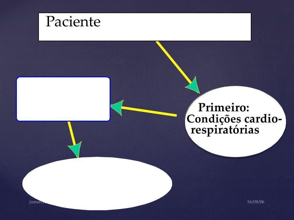 Paciente Primeiro: respiratórias Condições cardio-