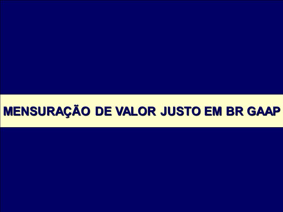 MENSURAÇÃO DE VALOR JUSTO EM BR GAAP