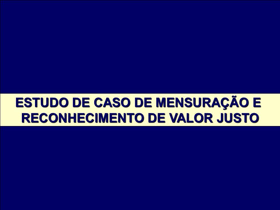 ESTUDO DE CASO DE MENSURAÇÃO E RECONHECIMENTO DE VALOR JUSTO