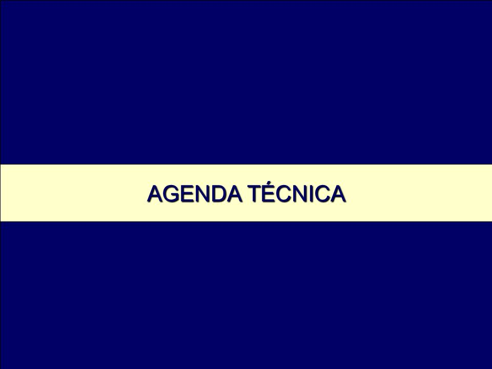 AGENDA TÉCNICA