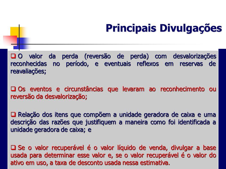 Principais Divulgações