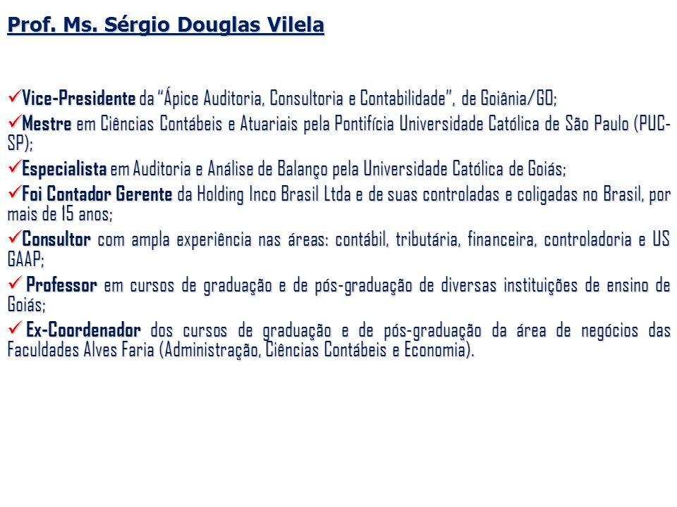 Prof. Ms. Sérgio Douglas Vilela