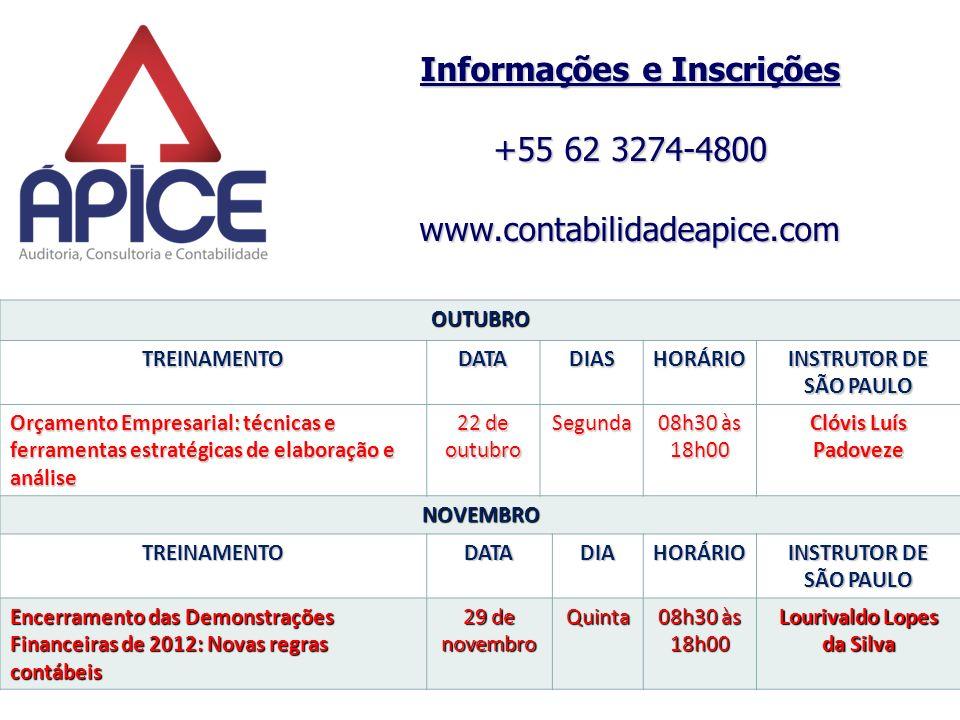 Informações e Inscrições Lourivaldo Lopes da Silva
