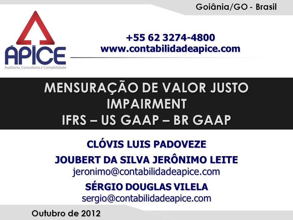 MENSURAÇÃO DE VALOR JUSTO JOUBERT DA SILVA JERÔNIMO LEITE