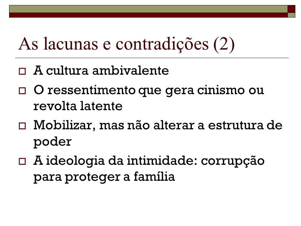 As lacunas e contradições (2)