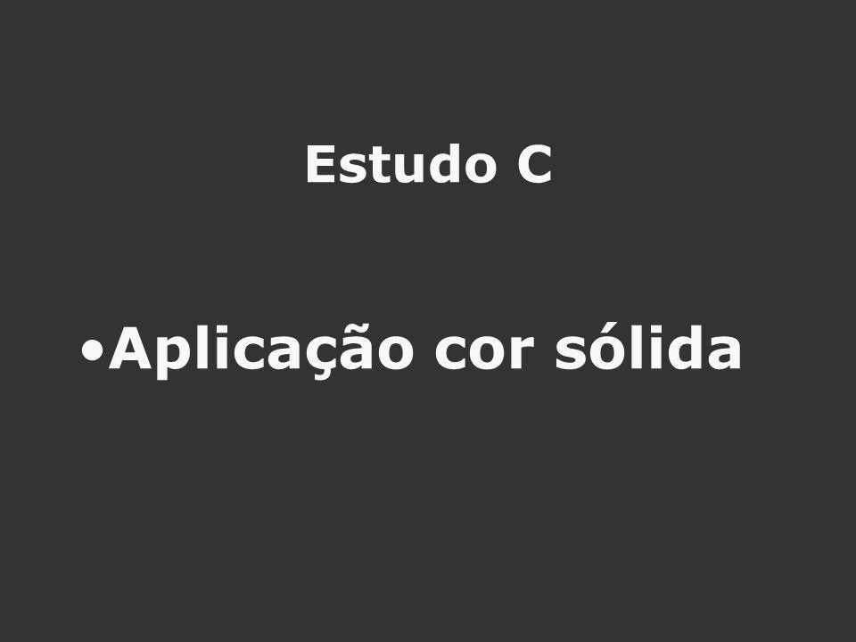 Estudo C Aplicação cor sólida