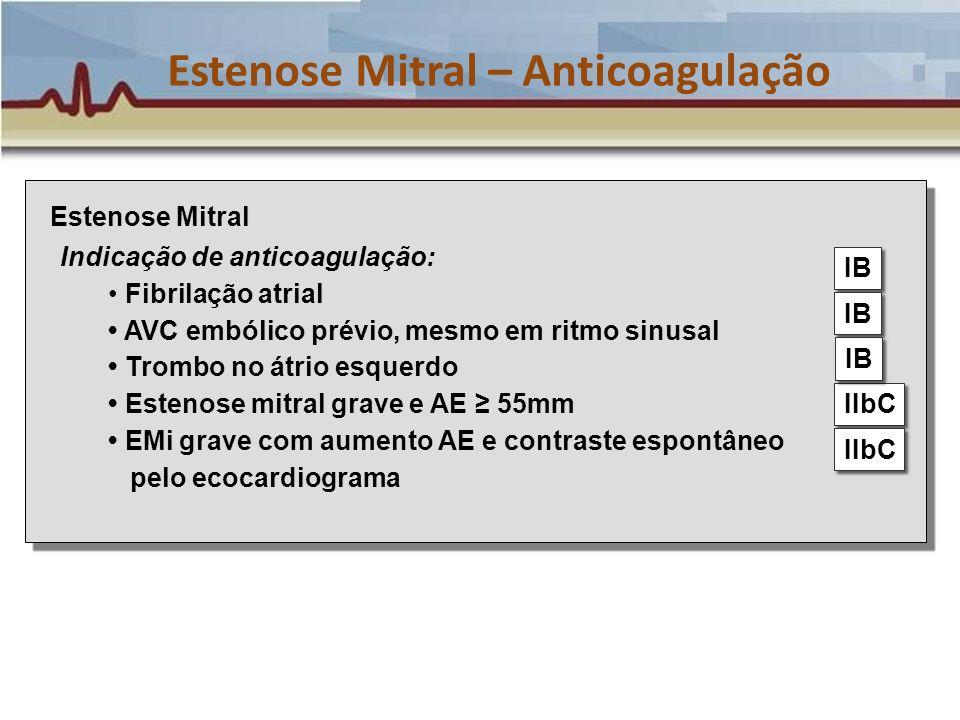 Estenose Mitral – Anticoagulação