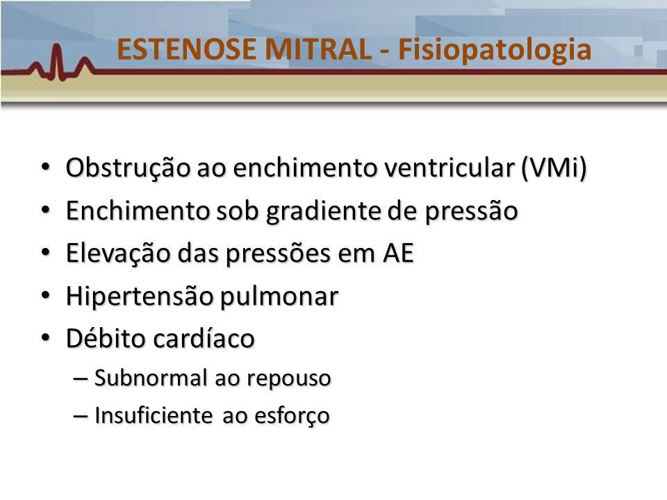 ESTENOSE MITRAL - Fisiopatologia