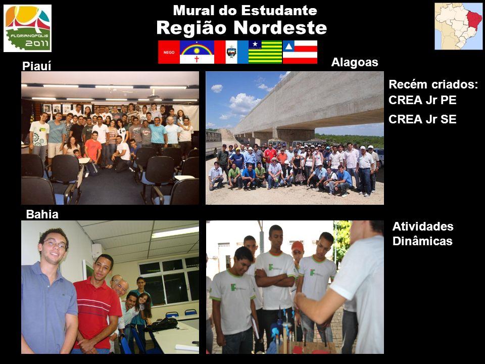Região Nordeste Mural do Estudante Alagoas Piauí Recém criados:
