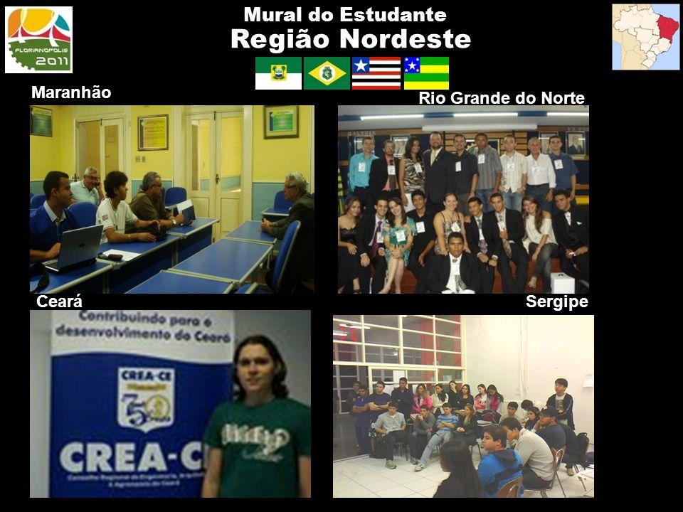 Região Nordeste Mural do Estudante Maranhão Rio Grande do Norte Ceará